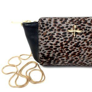 POUR LA VICTOIRE leopard calf hair and leather bag